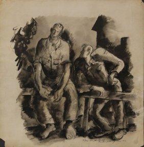 John Steinbeck, Of Mice And Men, Watercolor -1947