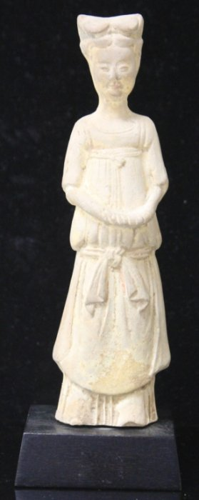 Tang Period Pottery, Standing Figure Of Court Lady