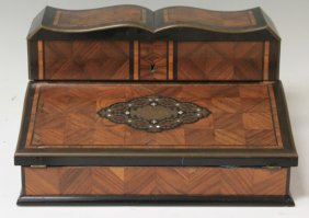 French Rosewood Inlaid Writing Desk