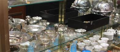 ASSORTMENT OF VICTORIAN SILVERPLATE