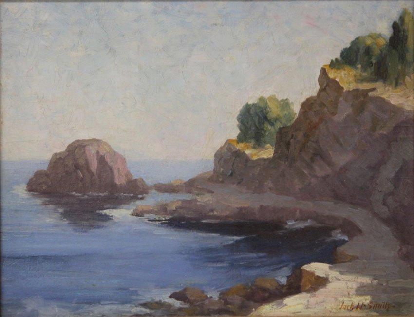 JACK WILKINSON SMITH (1873-1949), OIL ON BOARD