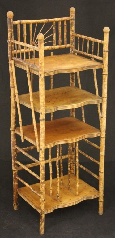 VINTAGE FRENCH BAMBOO BOOKSTAND