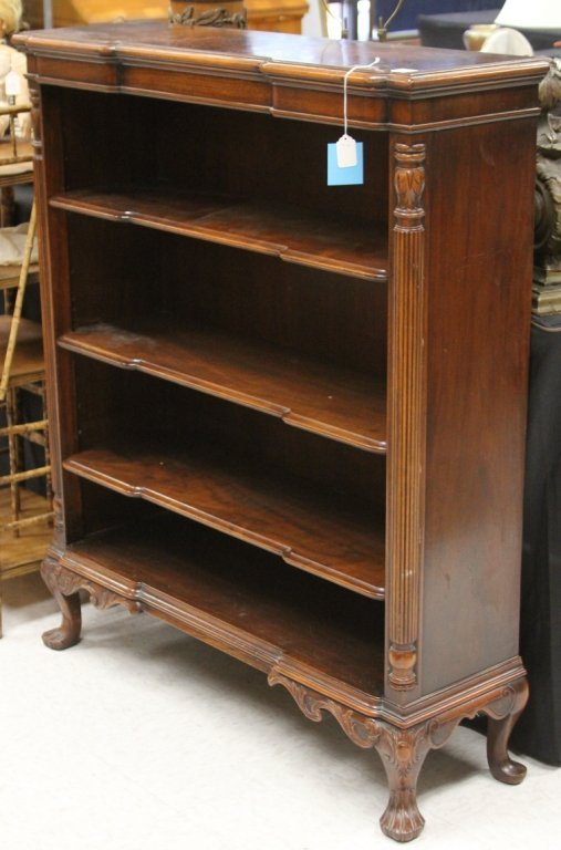 VINTAGE MAHOGANY CLASSICAL STYLE BOOKCASE