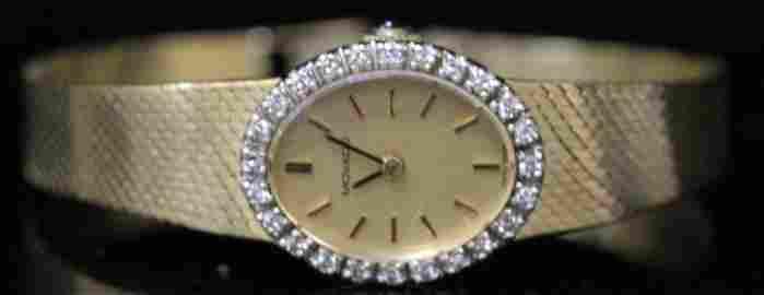 MOVADO 14KT DIAMOND WRISTWATCH