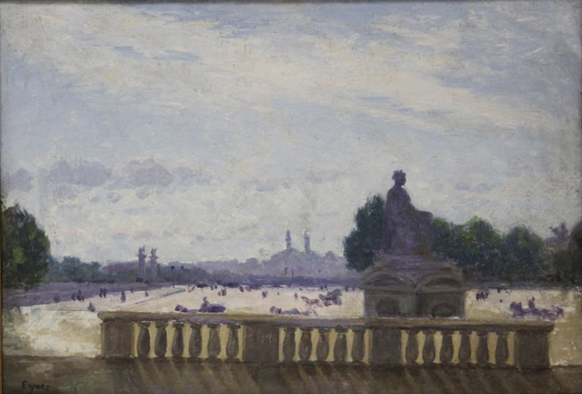 FRENCH OIL ON CANVAS, SIGNED EYARZ
