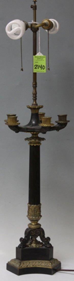 VICTORIAN CAST METAL FIGURAL LAMP