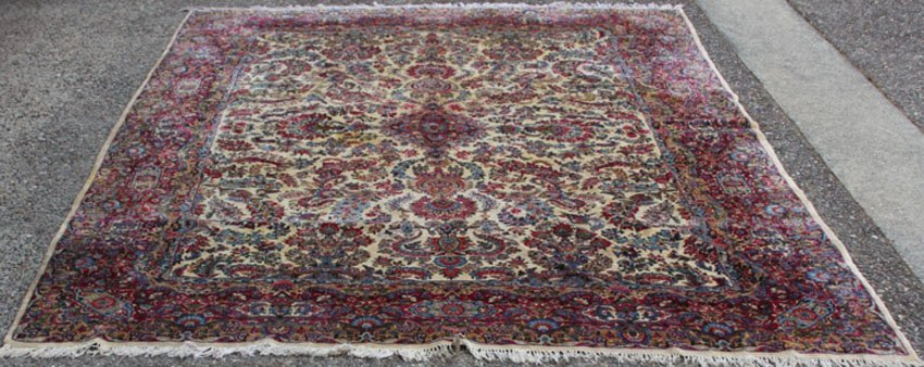 VINTAGE ROOMSIZE KERMAN CARPET