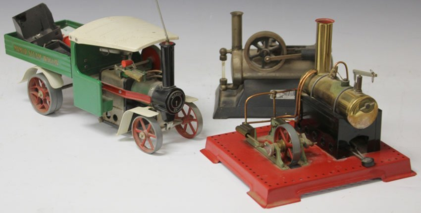 LOT OF (3) VINTAGE STEAM ENGINES