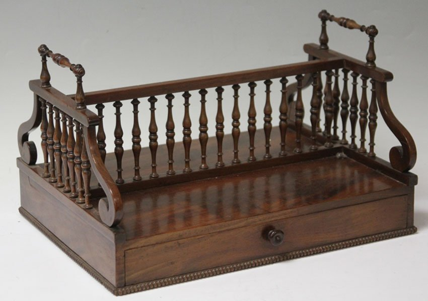 VICTORIAN ROSEWOOD DESK CADDY
