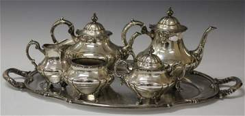 REED AND BARTON STERLING SILVER 5PC. TEA SERVICE