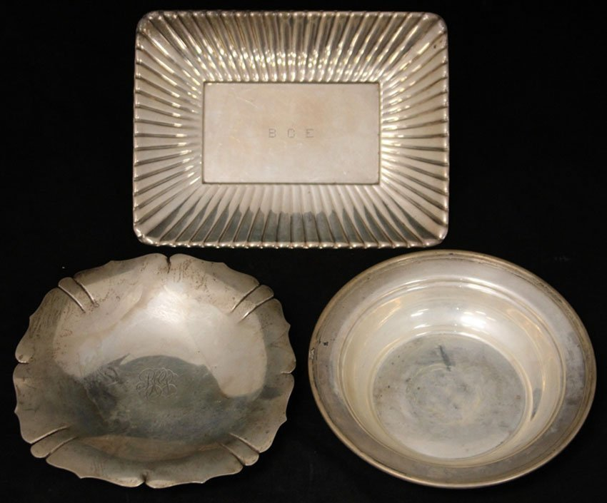 LOT OF (3) STERLING SILVER BOWLS