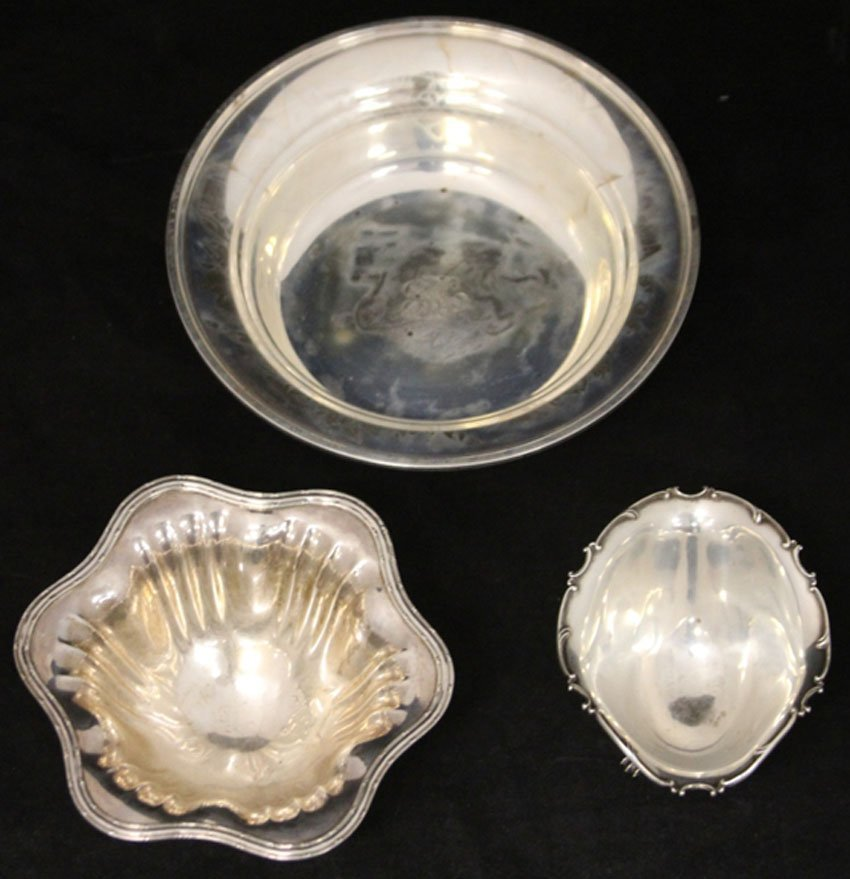 LOT OF (3) STERLING SILVER BOWL AND COMPOTES