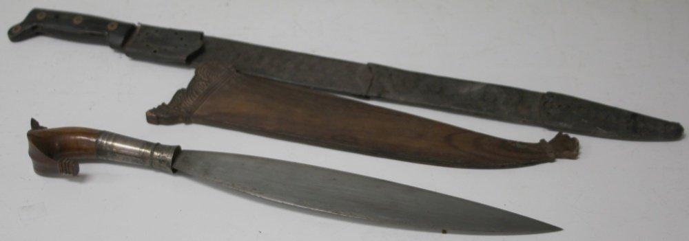 LOT OF (2) VINTAGE BUSH KNIVES