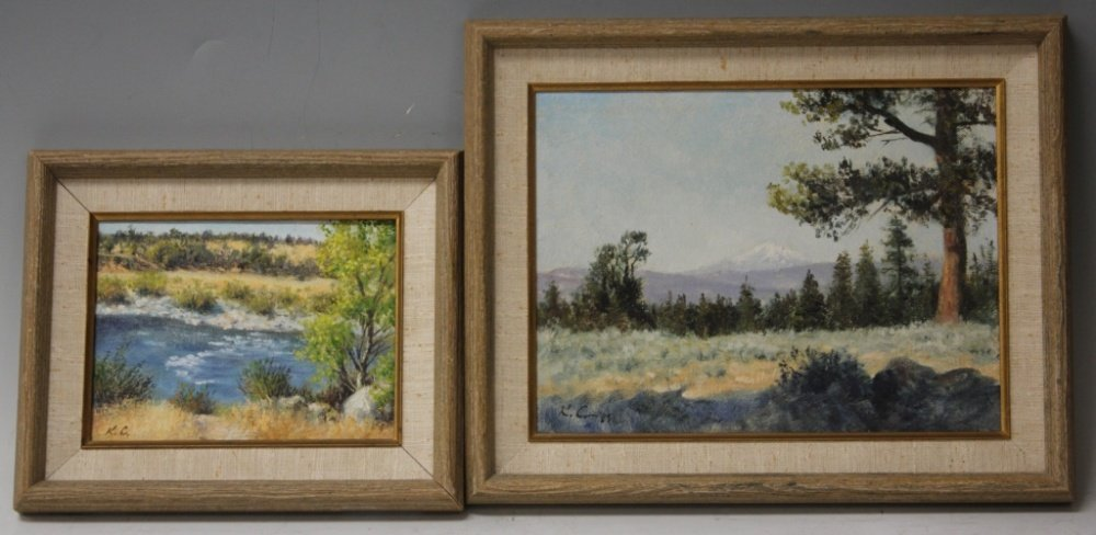 LOT OF (2) KEITH CHRISTIE, OIL ON CANVAS