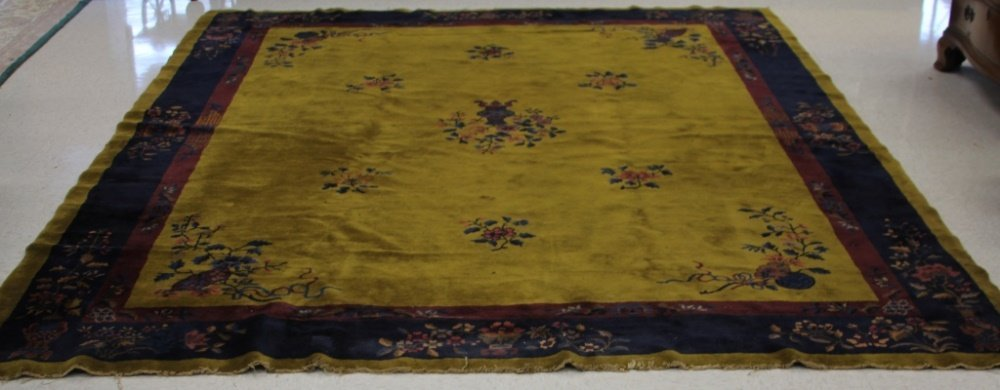 CHINESE VINTAGE CARPET, ROOMSIZE
