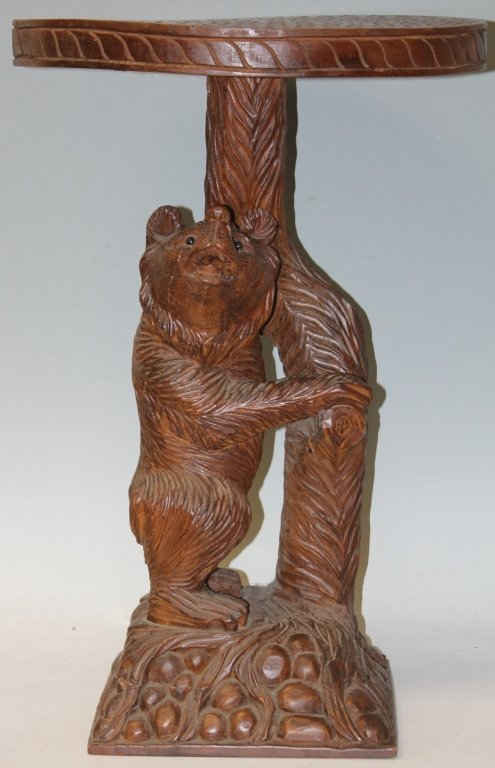 BLACK FOREST STYLE CARVED BEAR TABLE