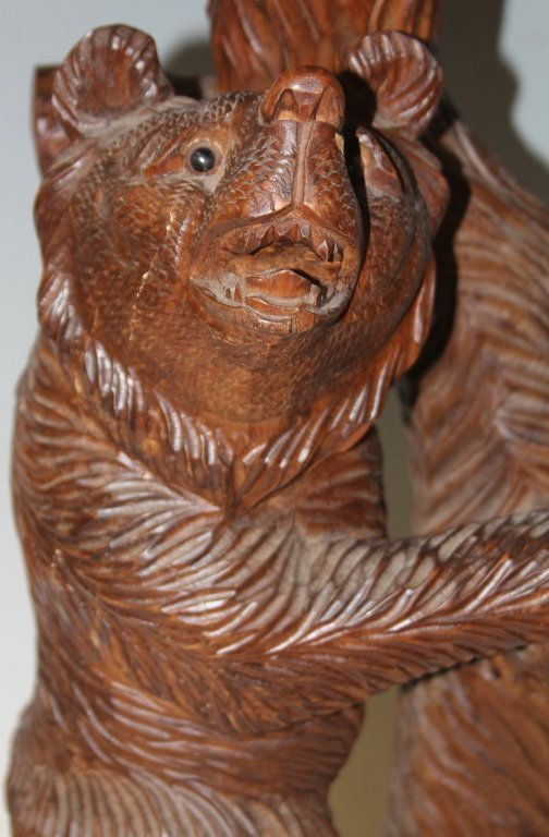 BLACK FOREST STYLE CARVED BEAR TABLE - 2