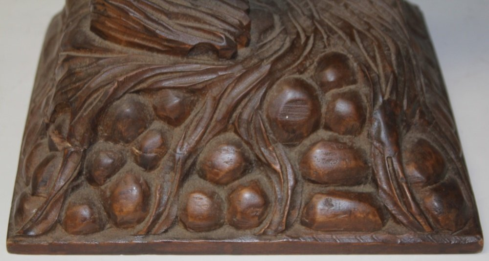 BLACK FOREST STYLE CARVED BEAR TABLE - 3