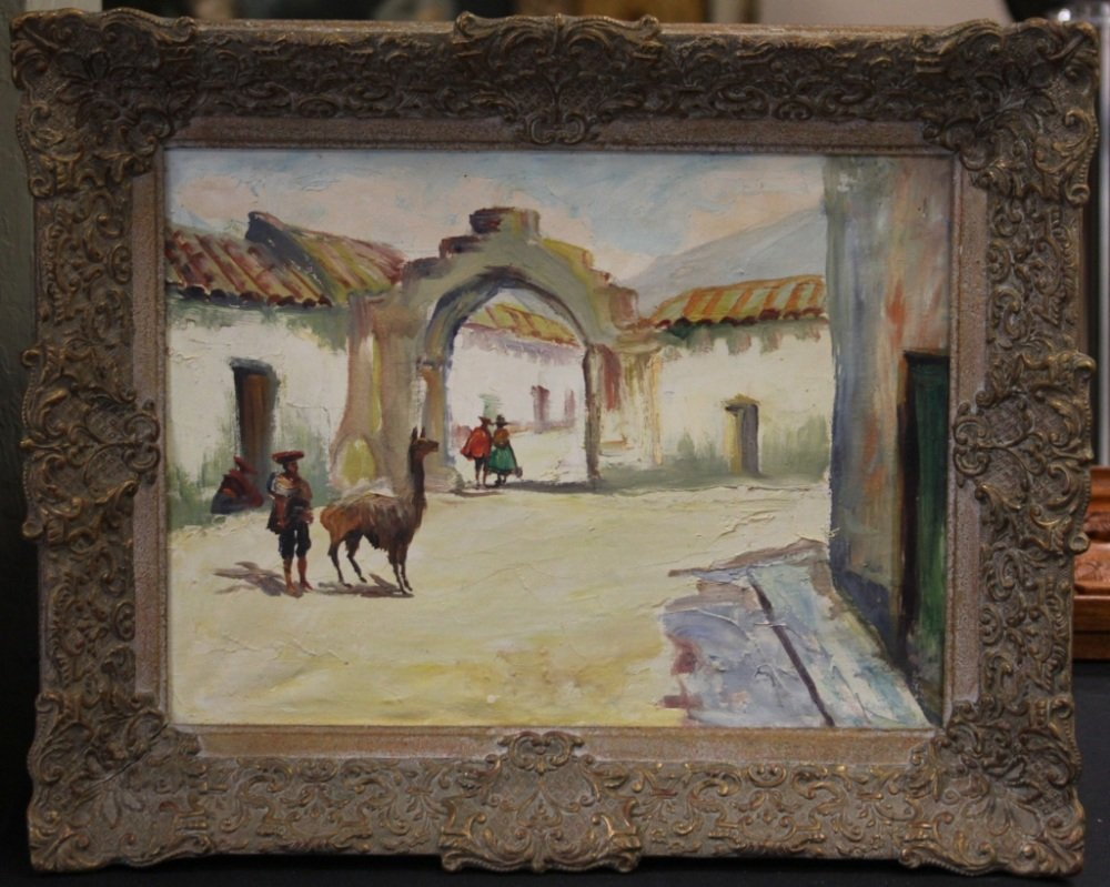 EARLY 20TH CENTURY PERUVIAN OIL ON CANVAS