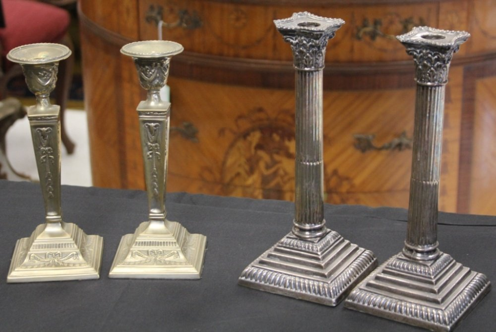 LOT OF (2) PAIRS OF VINTAGE CANDLESTANDS