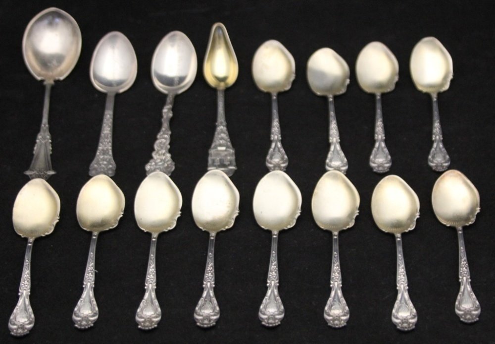 LOT OF (15) VINTAGE STERLING SILVER SPOONS