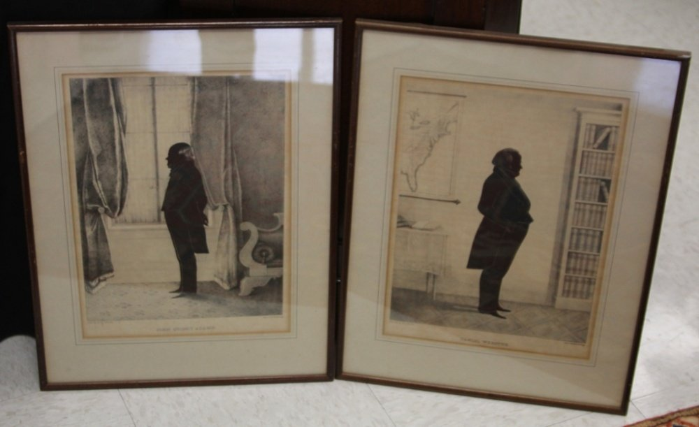 LOT OF (2) FRAMED SILHOUETTES