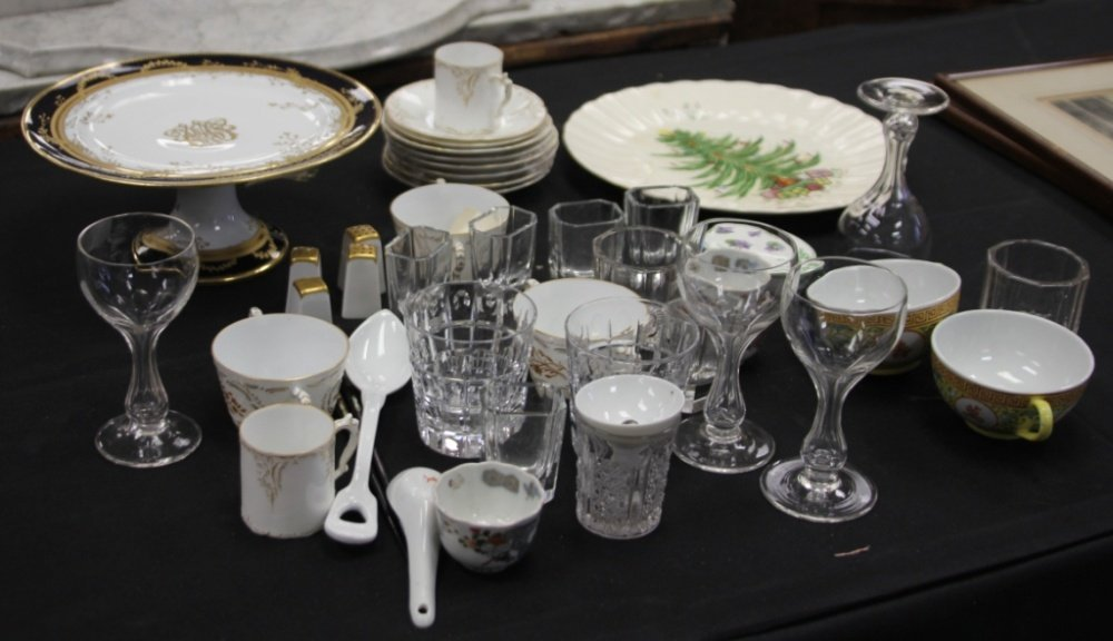 LARGE ASSORTMENT OF PORCELAIN AND GLASS