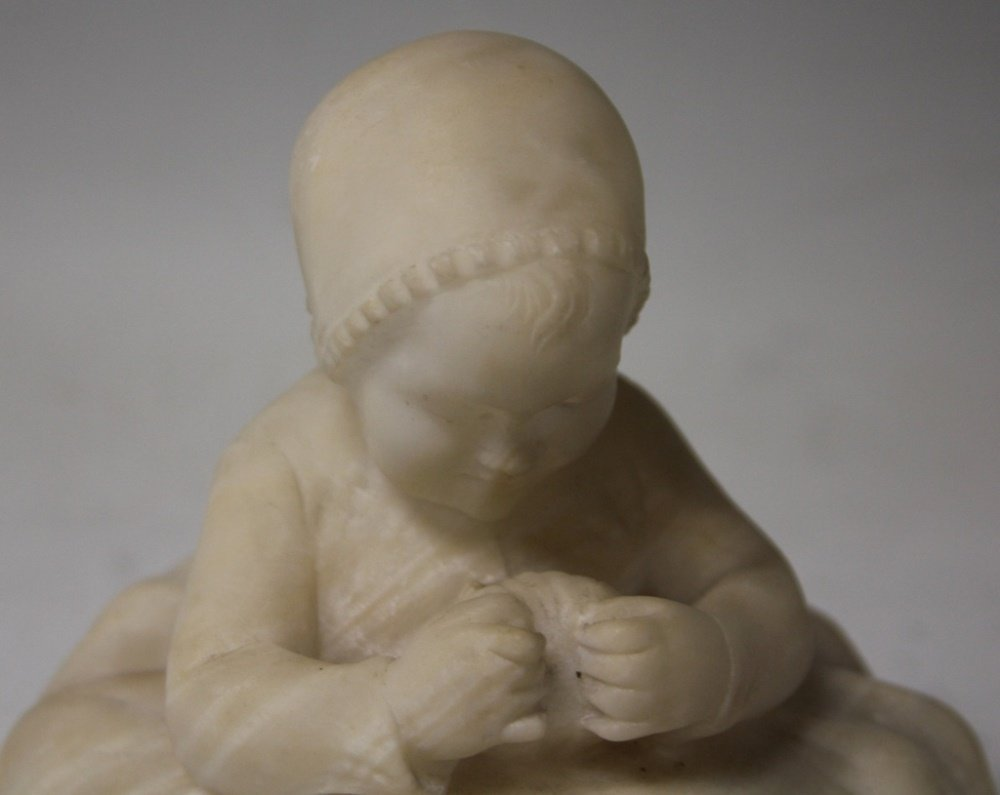 EARLY 20TH CENTURY ALABASTER STATUE OF CHILD - 2