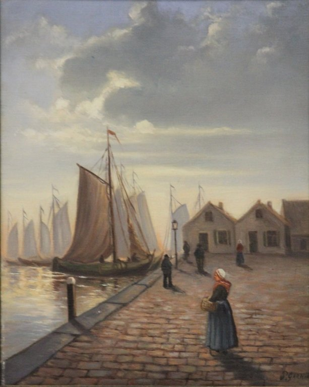 EARLY 20TH CENTURY OIL ON CANVAS