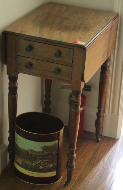 19TH CENTURY EMPIRE DROP LEAF TABLE