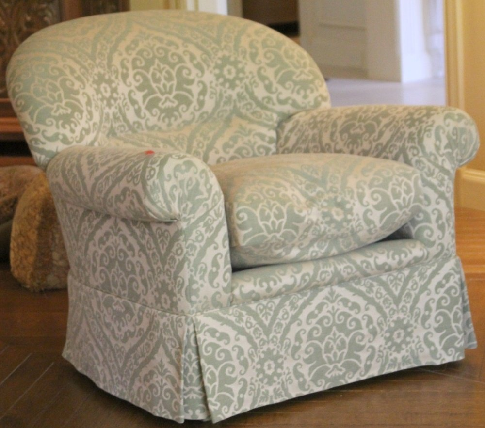 DESIGNER GREEN UPHOLSTERY CLUB CHAIR