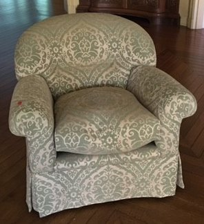 DESIGNER GREEN UPHOLSTERY CLUB CHAIR - 2