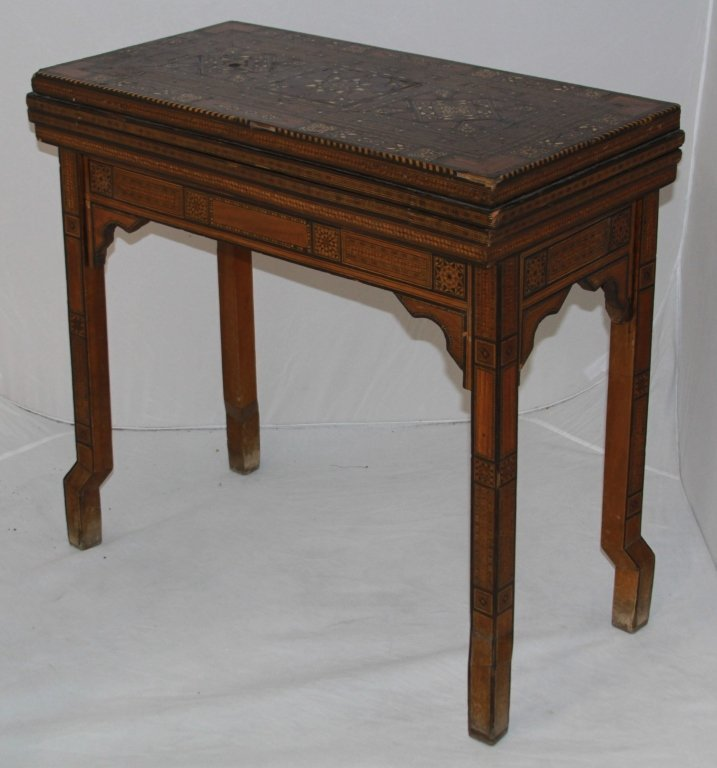 19TH CENTURY INLAID GAMES TABLE