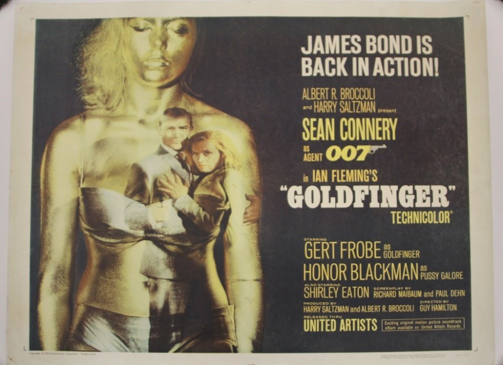 GOLDFINGER MOVIE POSTER, 1964