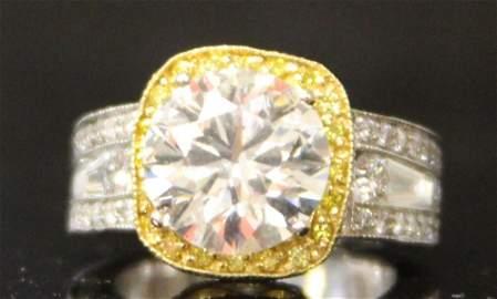 LADY'S 4.02 CT. DIAMOND RING, G.I.A. CERT.