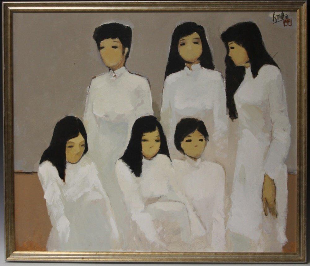 NGUYEN THANH BINH (B.1954), OIL ON CANVAS