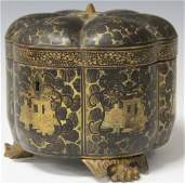 LATE 18TH CENTURY CHINESE EXPORT TEA BOX