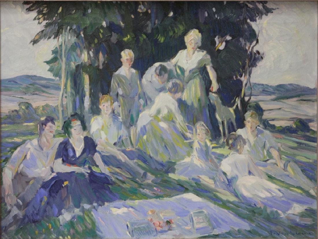 FRANK VAN SLOUN (1879-1938), OIL ON CANVAS
