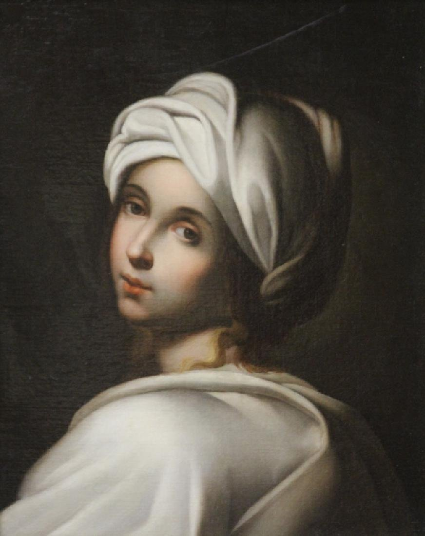 EARLY 20TH CENTURY OIL ON CANVAS, PORTRAIT OF GIRL