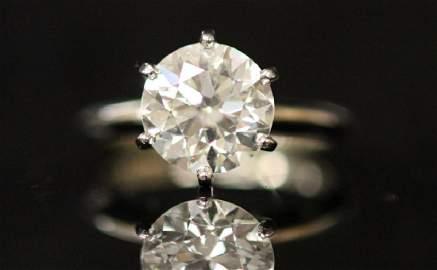 LADY'S OLD EUROPEAN CUT 3.61 CT. DIAMOND RING