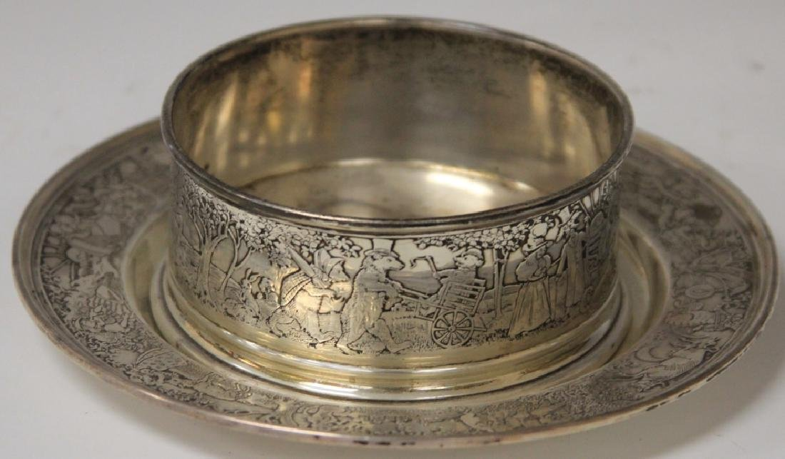 STERLING SILVER BOWL AND PLATE