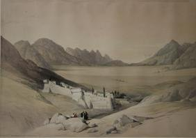 PAIR OF DAVID ROBERTS LITHOGRAPHS, 19TH CENTURY