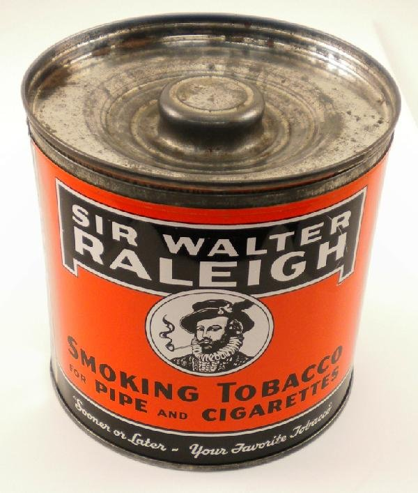 21: Sir Walter Raleigh Round Tobacco Tin