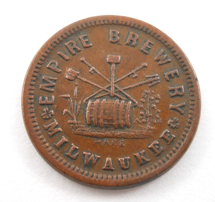 2: 1863 Empire Brewery Civil War Era Token