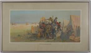 120: Framed Anheuser-Busch 1912 Litho Art Print