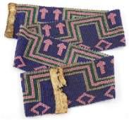 149: Vintage Pit River Native American Beaded Belt