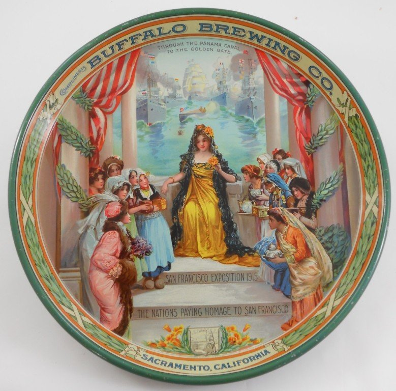 246: 1915 Buffalo Brewing Co. Beer Tray