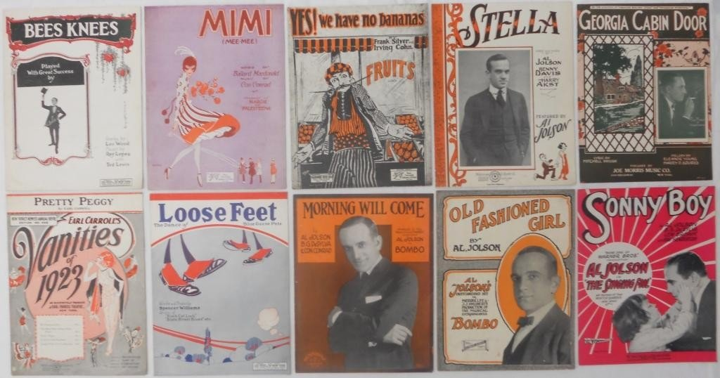 3: 10 Pieces of Sheet Music 1890 - 1920