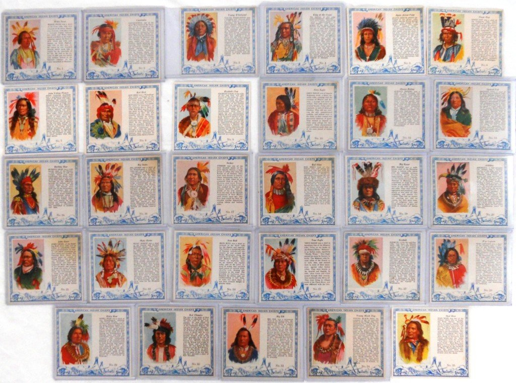 6: 29 Red Man Tobacco Indian Cards