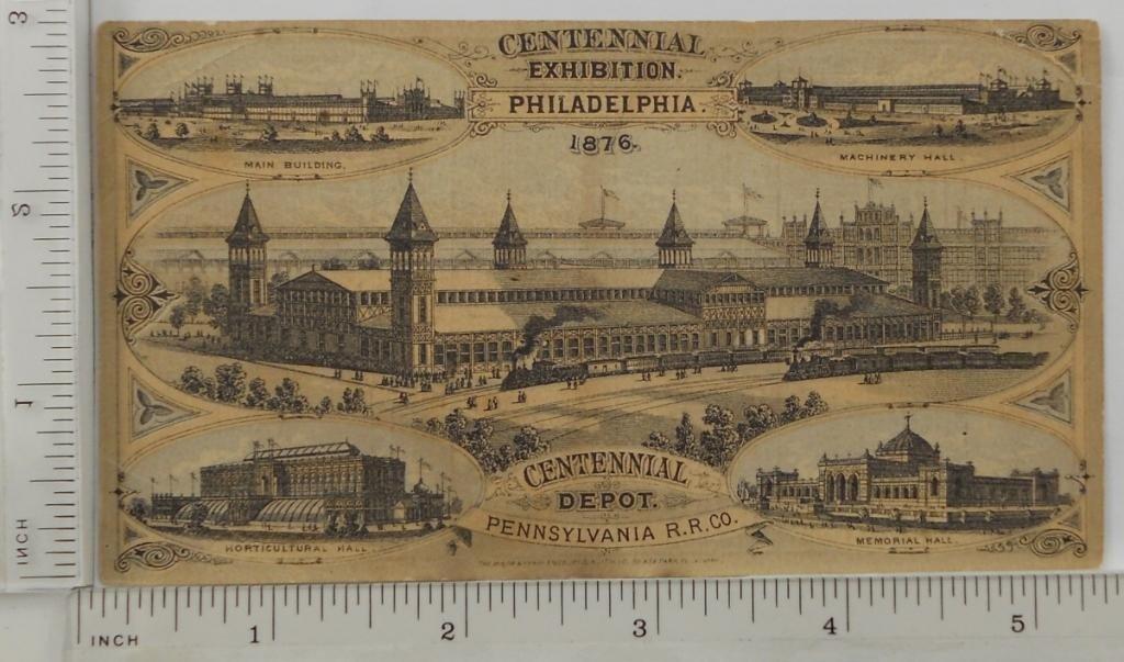 8: 1876 Centennial Exhibition Philadelphia Trade Card